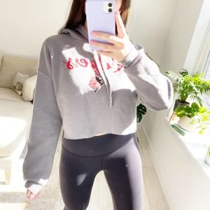 Rutgers University Cropped Hoodie Size Small